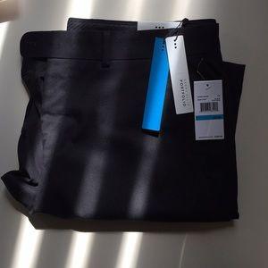 Perry Ellis Men's Black Solid Suit Separate Pant